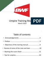 Badminton Umpire Training Manual