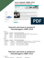 Petunjuk Username & Password UNBK 2016