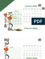 2015 Monthly Calendar Landscape 02