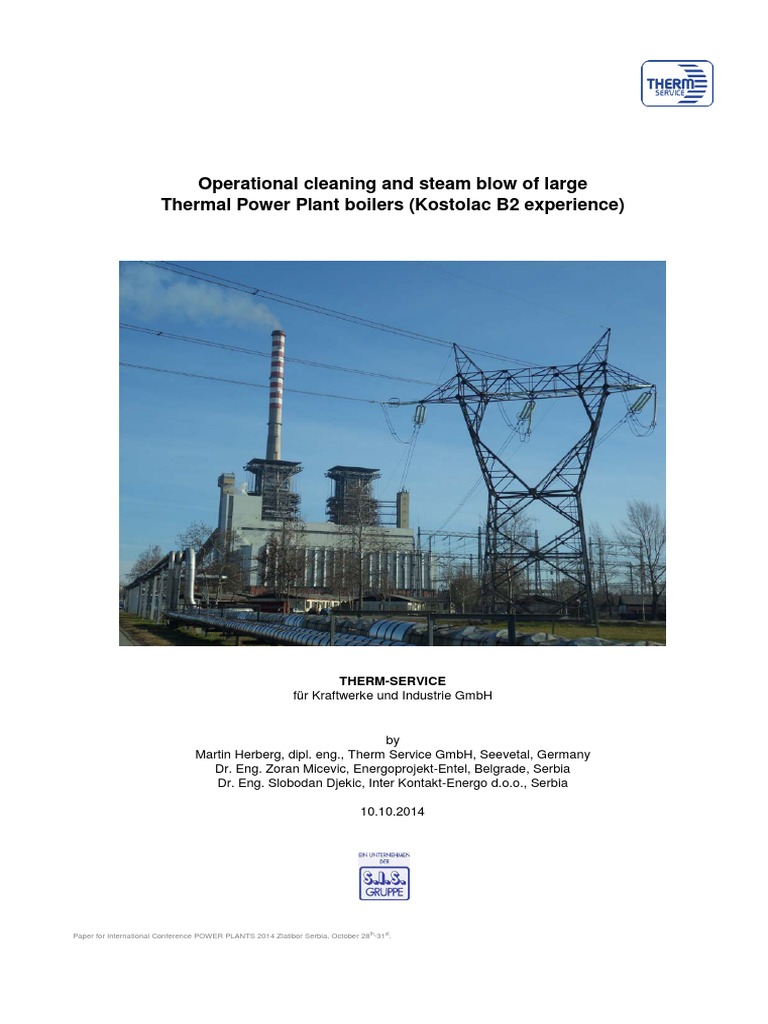 Operational Cleaning and Steam Blow of Large Thermal Power Plant ...
