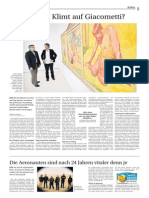 Wie reagiert Klimt auf Giacometti?