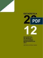 Estadisticas Museos España en el año 2012