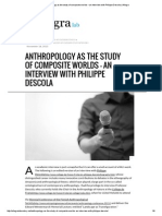 Anthropology as the Study of Composite Worlds – an Interview With Philippe Descola _ Allegra