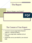 How to Write the Report
