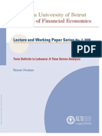 2008 Twin Deficits in Lebanon A Time Series Analysis.pdf