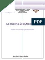 La Théorie Évolutionniste