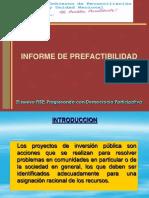 Informe de Prefactibilidad