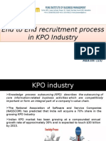 Recruitment Process in KPO Industry
