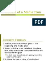 Outline of a Media Plan