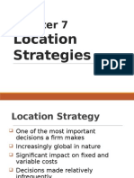 6.0 Location Strategies