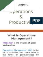 1.0 Operations Productivity