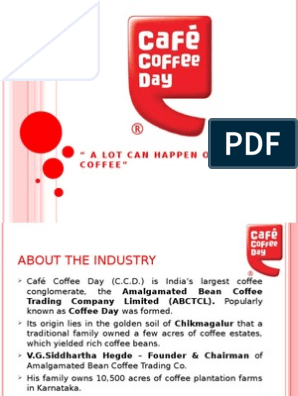Cafe Coffee Day Presentation Coffeehouse Coffee