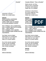 Canção (Hino) - Letra - SOU a ESCOLA
