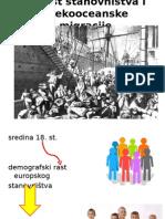 Porast Stanovništva i Prekooceanske Migracije