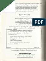 LAPLANTINE, François. Aprender Antropologia