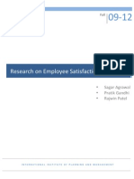 Employee satisfaction report