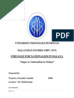 Malaysian Studies Assignment