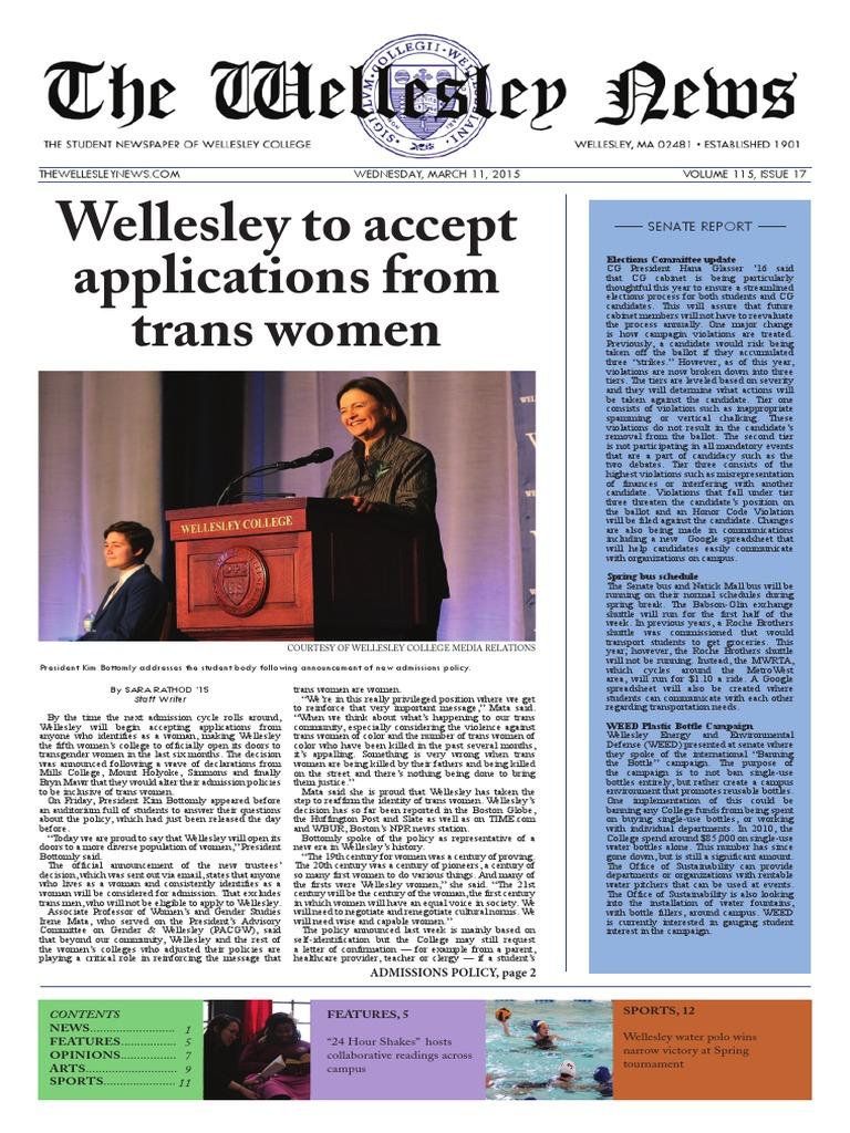 Wellesley College Gay Statistics Teens Tried