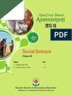 OTBA Social Science Theme Class 9