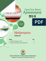 OTBA Mathmatics Theme Class 9