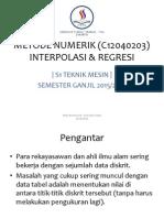 Interpolasi Dan Regresi