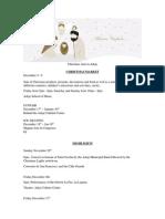 Adeje Christmas Programme 2015