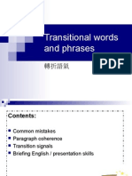 Transitional Verbs and Pharse
