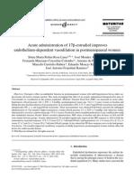 Acute Administration of Estradiol Improves