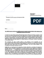 Met Police letter IOCCO