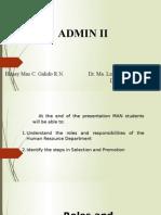 Admin II