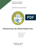 Informe Titulacion Oxido Reduccion