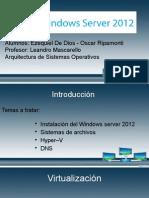 PRESENTACIÓN W Server 2012
