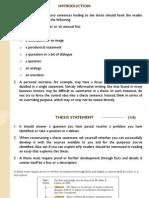 Essay Main Points