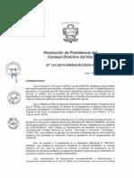 Resolución N°143-2015-SINEACE-CDAH-P