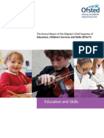 Ofsted Annual Report Education and Skills