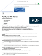 As Physics_ Mechanics - Resources - TES