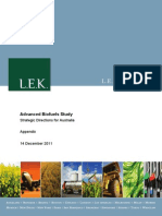 Advanced Biofuels Study Appendix
