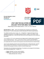 AT&T AND THE SALVATION ARMY COLLECT TOYS FOR AREA YOUTH