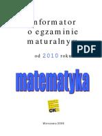 Informator maturalny z Matematyki_2010