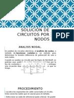 Solución de Circuitos Por Nodos