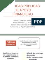 Políticas Públicas de Apoyo Financiero