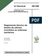 Reglamento Para Diseño de Sifones - Bolivia