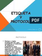 PRESENTACION EN POWER POINT EN ETIQUETA Y PROTOCOLO PARA ATENCIONES SOCIALES