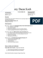corey koch resume 2