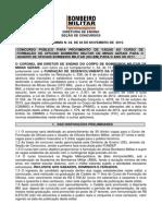 EDITAL CFO BOMBEIRO MG