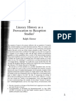 Ralph Hexter Literary History as a Provocation to Reception Studies
