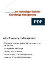 Information Technology Tools for Knowledge Management
