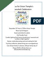 Union Temple's  Chanukah Celebration