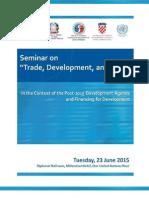 seminar on trade development and law  seminar 23rd june
