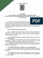 HG Privind Modificarea Si Completarea HG 94 2014 Privind Orgqanizarea, Functionarea Si Componenta Comitetului National Pentru Situatii Speciale de Urgenta